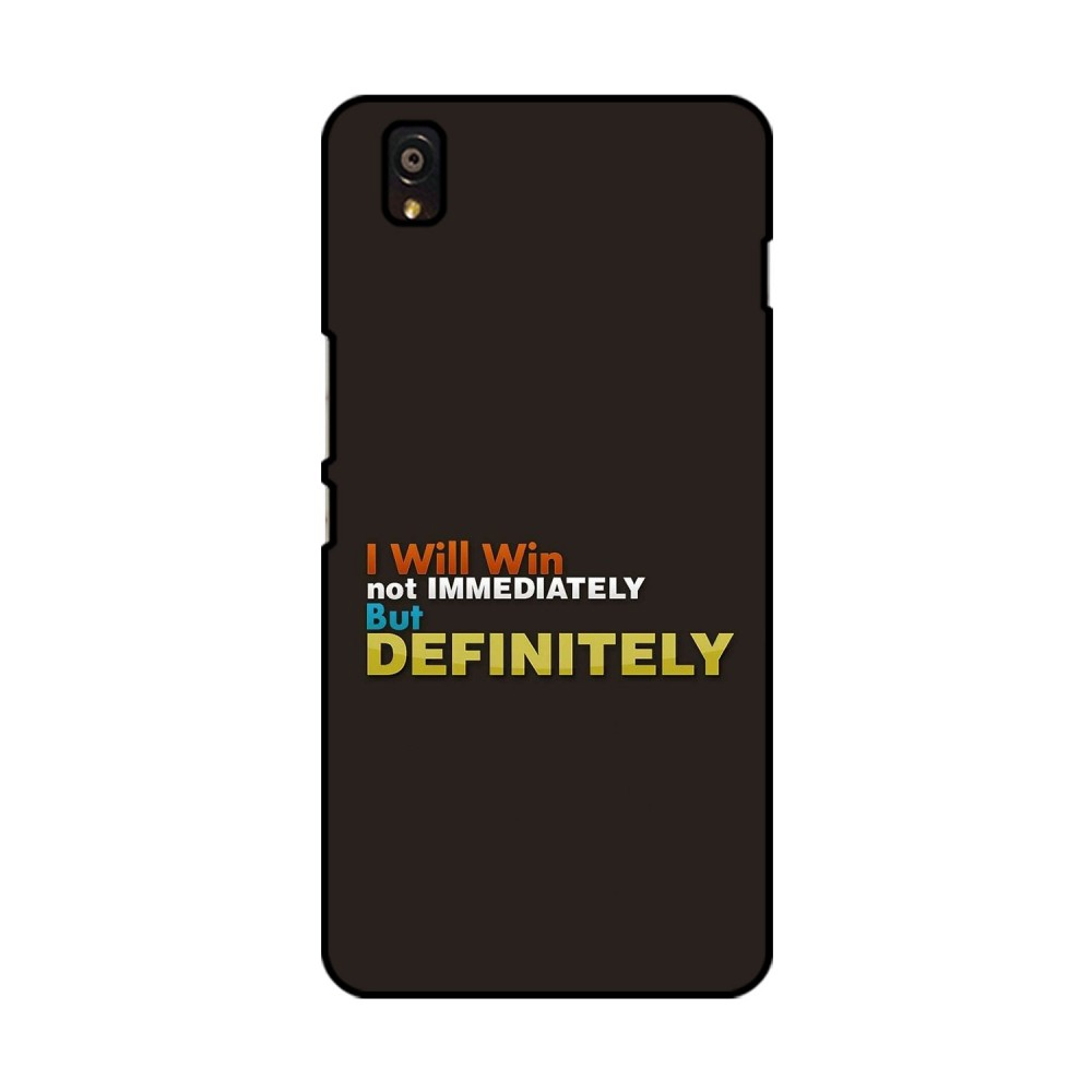 I Will Win Printed OnePlus Mobile Case