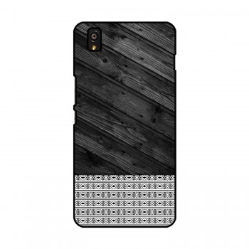 Black Wooden Pattern Printed OnePlus Mobile Case