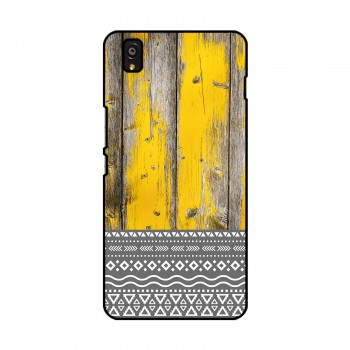Yellow Wooden Pattern Printed OnePlus Mobile Case