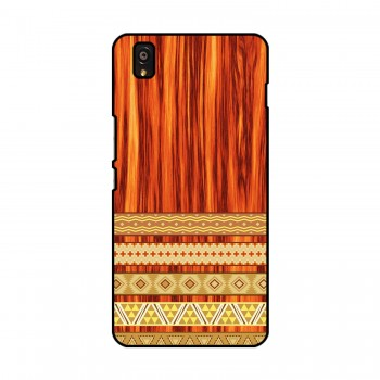Orange Wooden Pattern Printed OnePlus Mobile Case