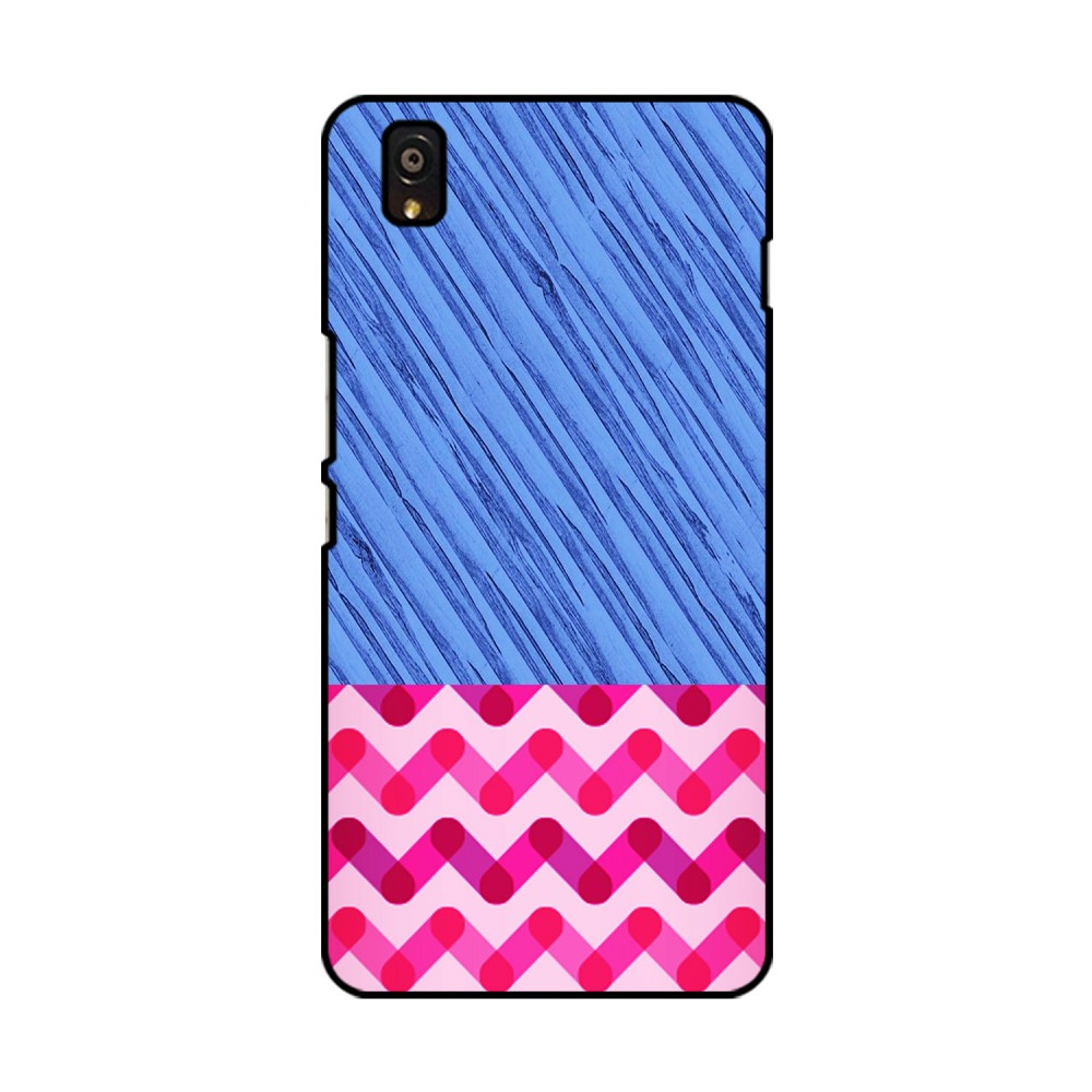 Blue and Pink Pattern Printed OnePlus Mobile Case