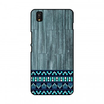 Blue Wooden Pattern Printed OnePlus Mobile Case