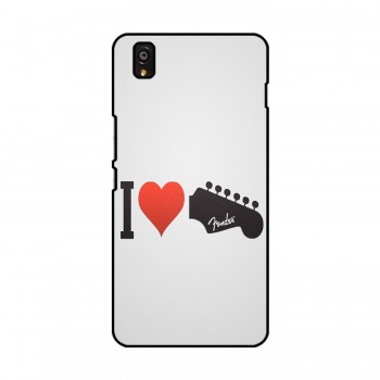 I Love Printed OnePlus Mobile Case