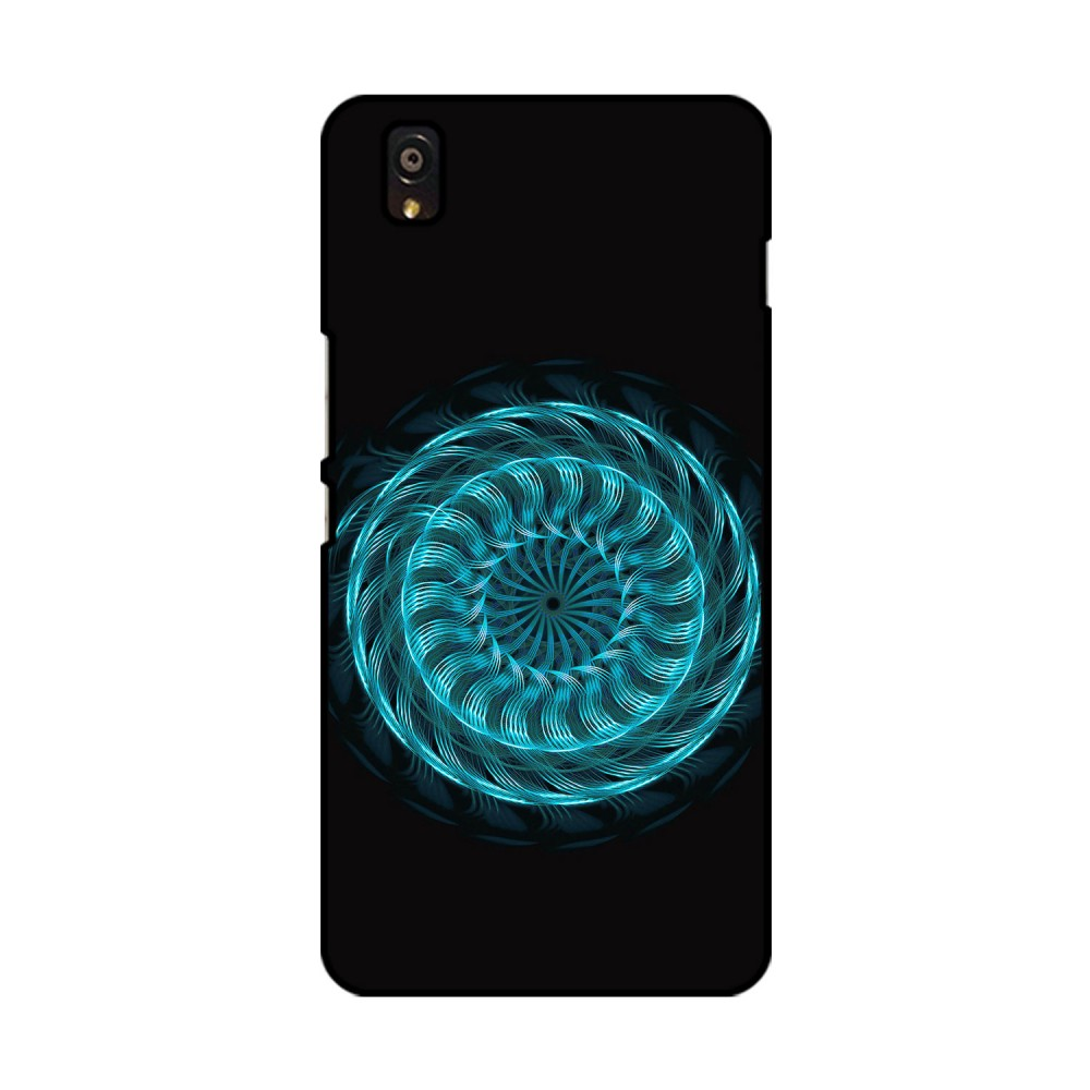 Blue Colored Flow Pattern Printed OnePlus Mobile Case