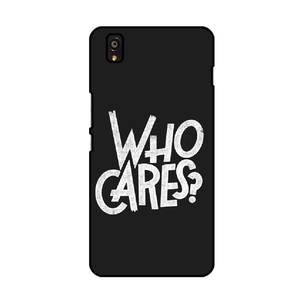 Who Cares Printed OnePlus Mobile Case