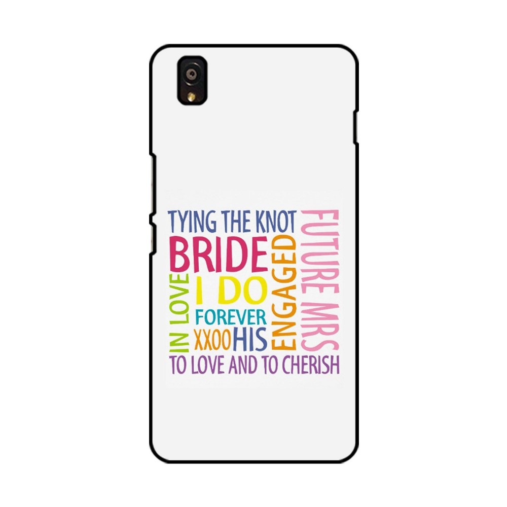 Bride Quote Printed OnePlus Mobile Case