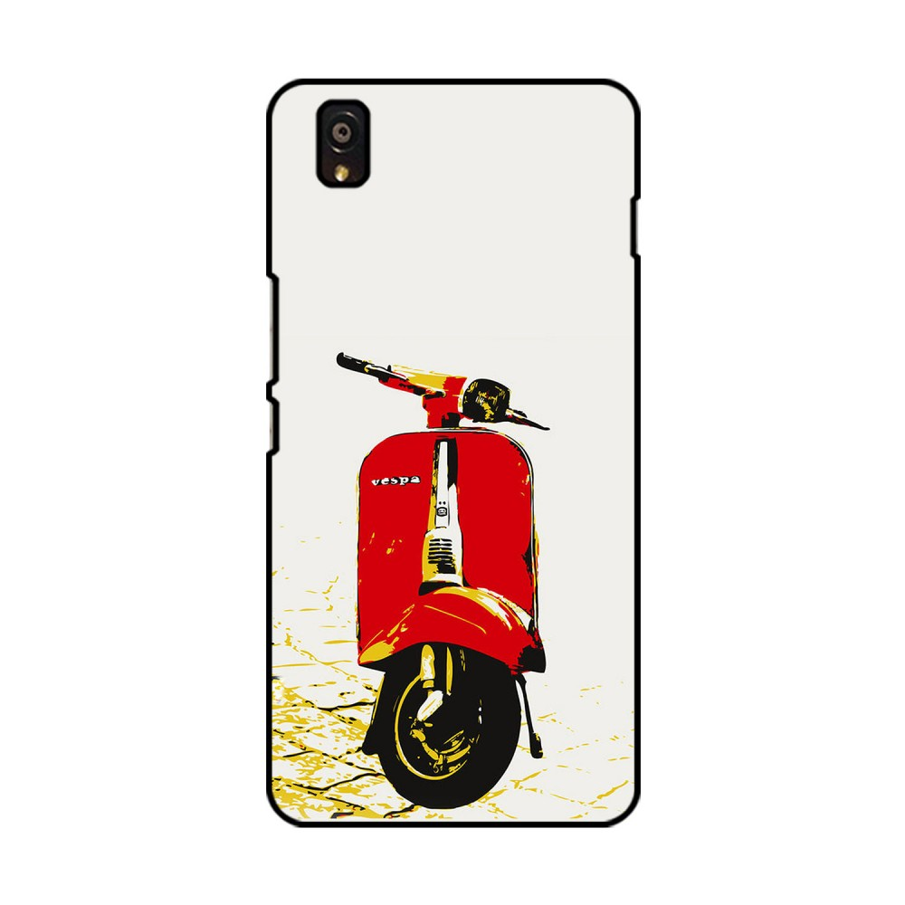 Red Vespa Printed OnePlus Mobile Case