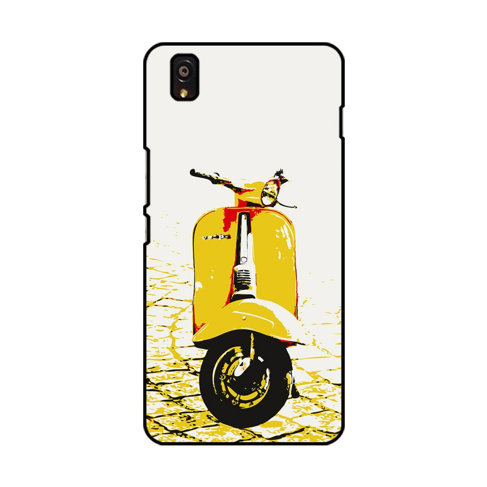 Yellow Vespa Printed OnePlus Mobile Case
