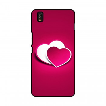 Pink Heart Printed OnePlus Mobile Case