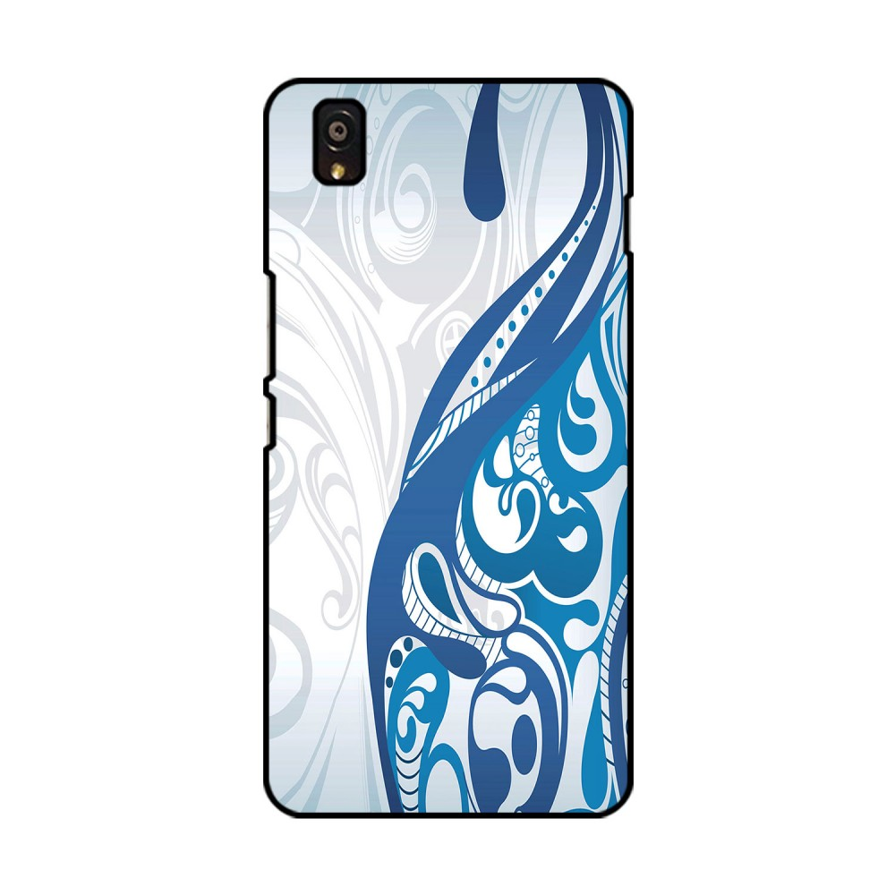 White And Blue Design Printed OnePlus Mobile Case