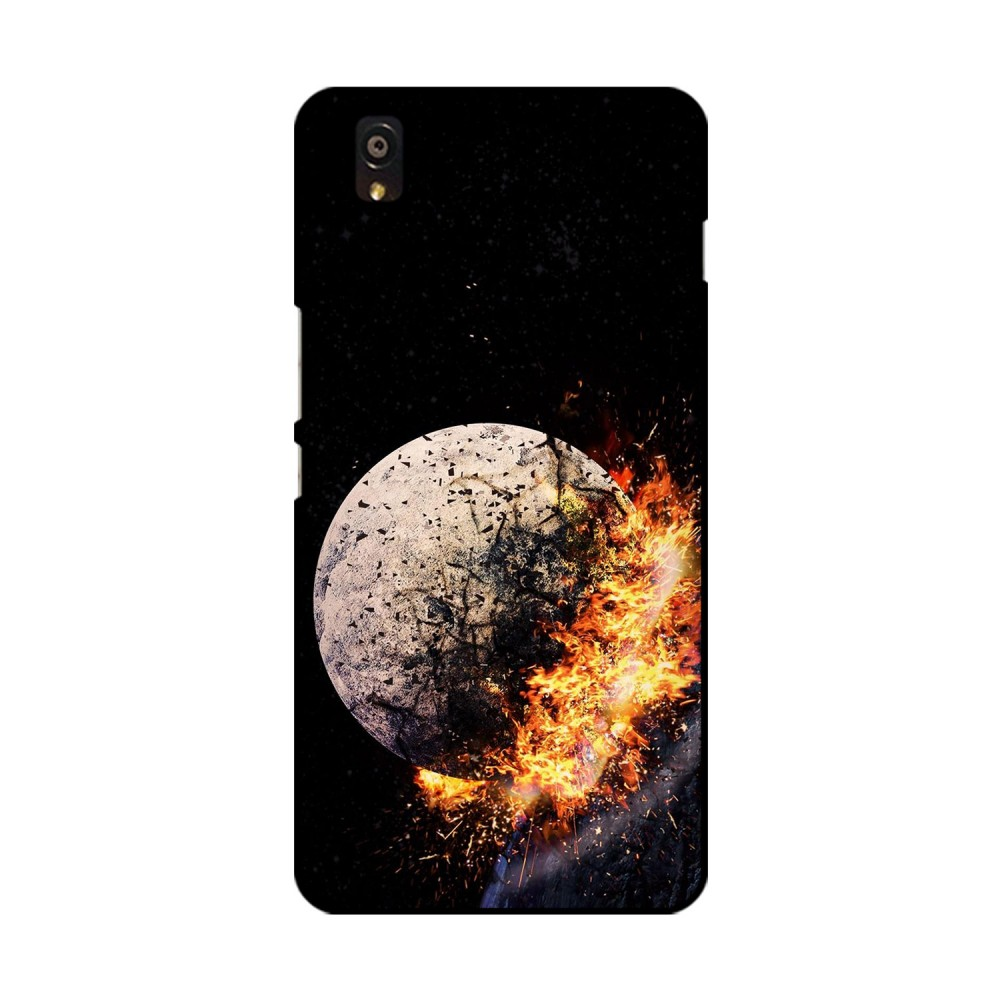 Crystal With Fire Printed OnePlus Mobile Case