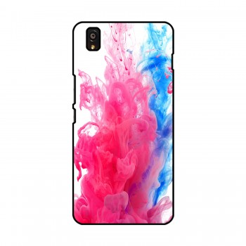 Blue And Pink Colors Flow Printed OnePlus Mobile Case