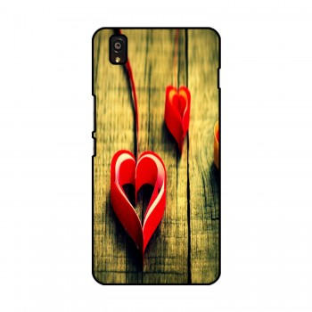 Heart Ribbon Printed OnePlus Mobile Case