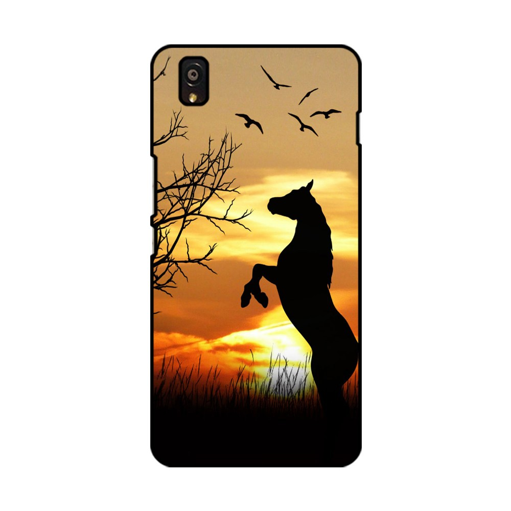 Sunset With Horse Printed OnePlus Mobile Case