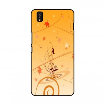 Orange Flora Printed OnePlus Mobile Case