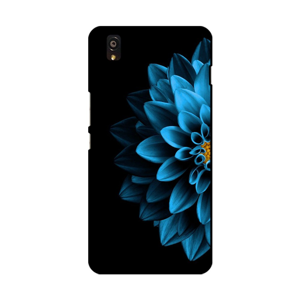 Blue Colored Flower Printed OnePlus Mobile Case