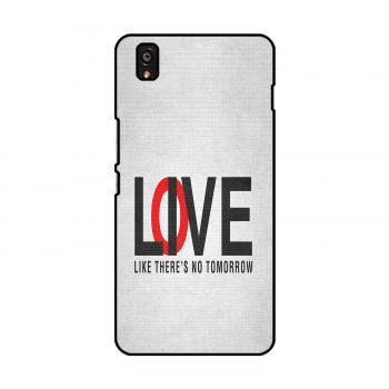 Love / Live Text Printed OnePlus Mobile Case