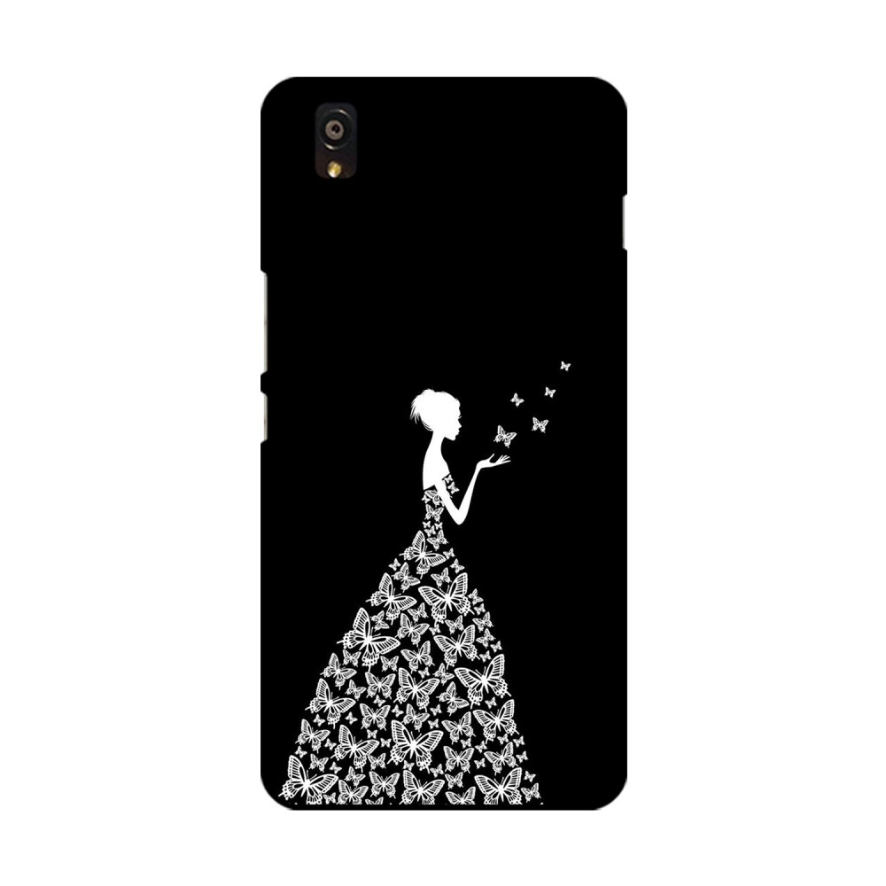 Butterfly Girl Printed OnePlus Mobile Case