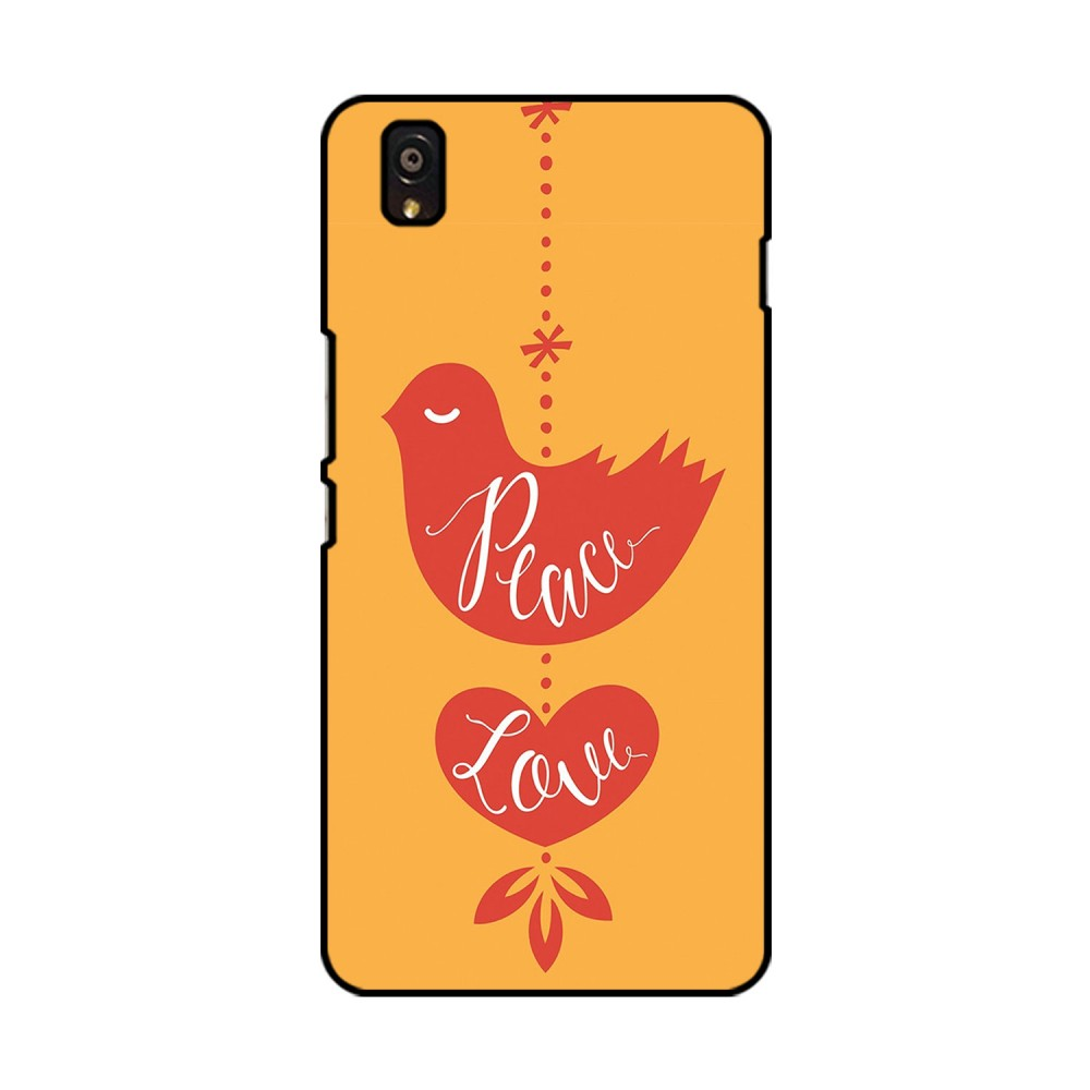 Peace Love Printed OnePlus Mobile Case