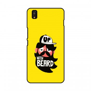 Up With Beard Cartoon Printed OnePlus Mobile Case