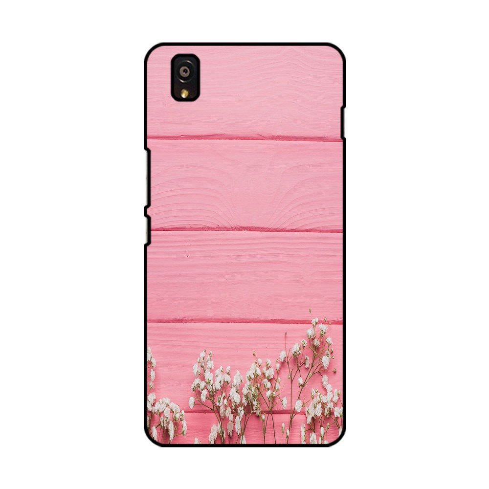 Pink Board White Flowers Printed OnePlus Mobile Case