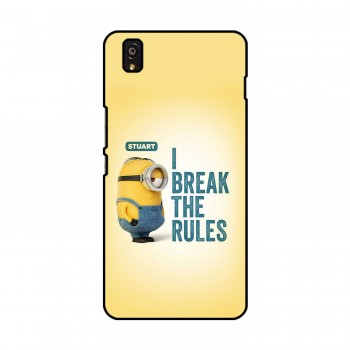 I break The Rules Text Printed OnePlus Mobile Case