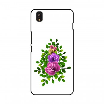 Flower With Leaves Printed OnePlus Mobile Case