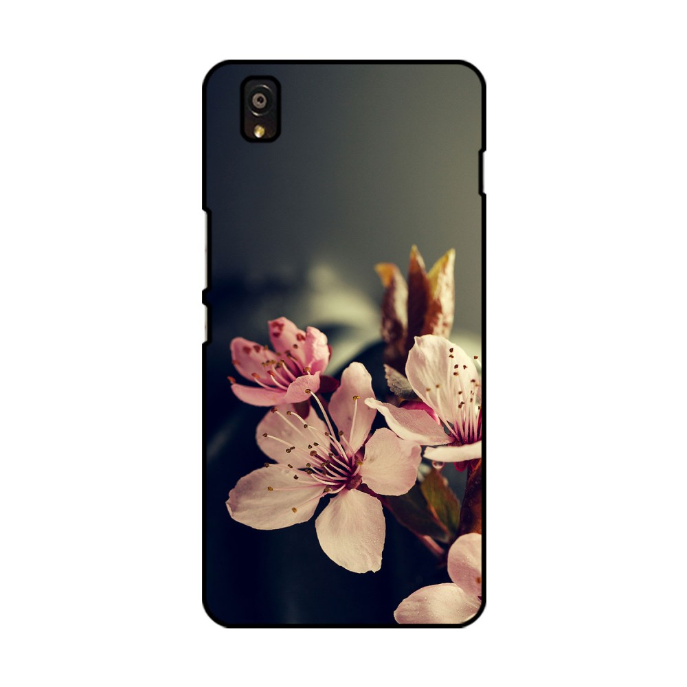 White And Pink Flowers Printed OnePlus Mobile Case