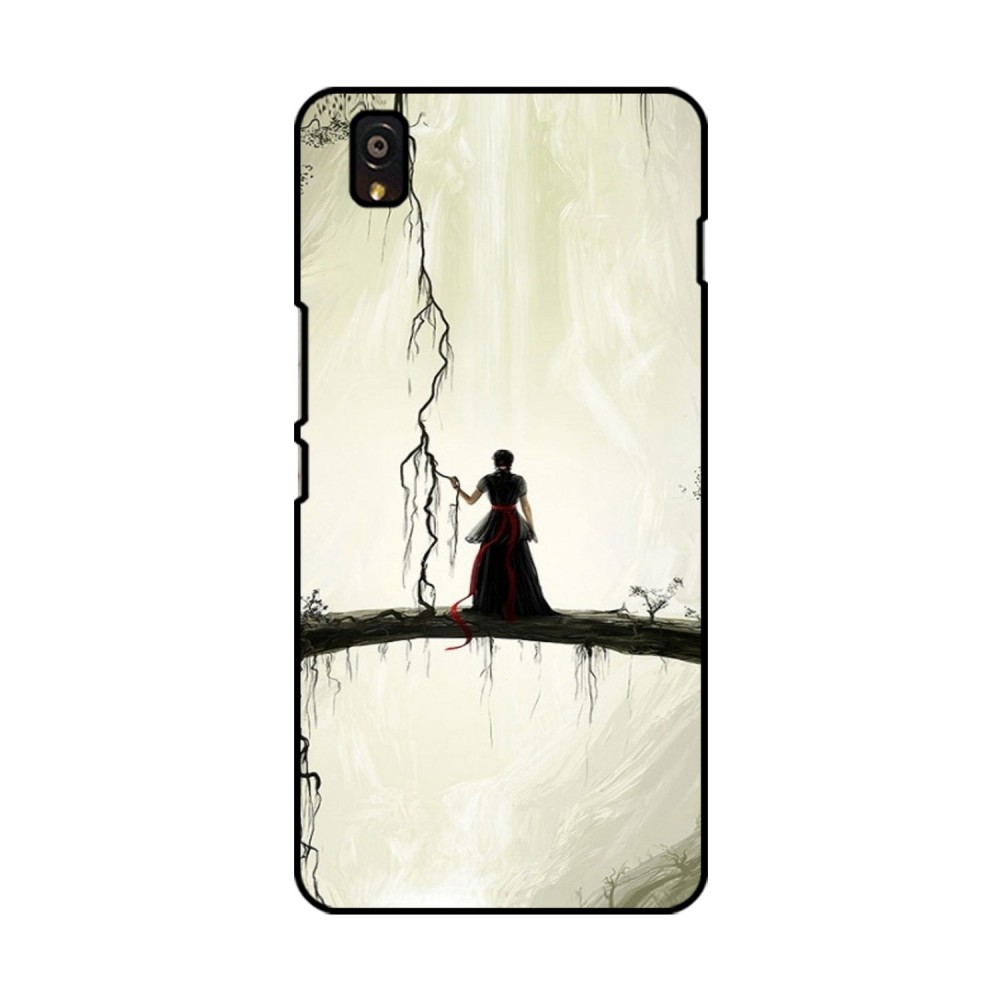 Lady Alone Printed OnePlus Mobile Case