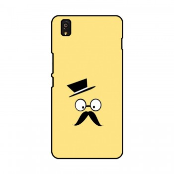 Hat With Mustache Printed OnePlus Mobile Case