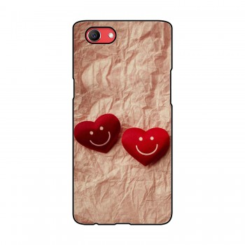 Double Heart Printed Oppo Mobile Case