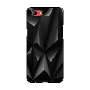 Black Pattern Printed Oppo Mobile Case