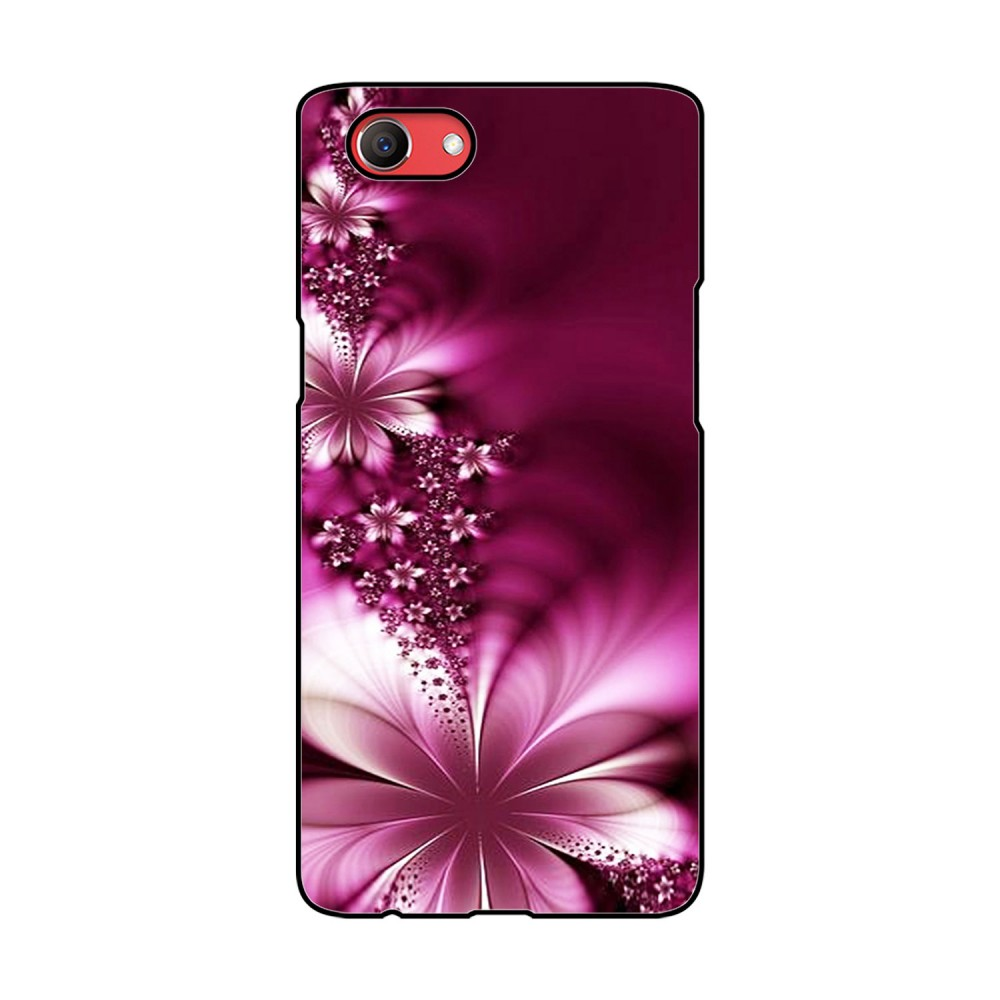 Pink Flower Printed Oppo Mobile Case