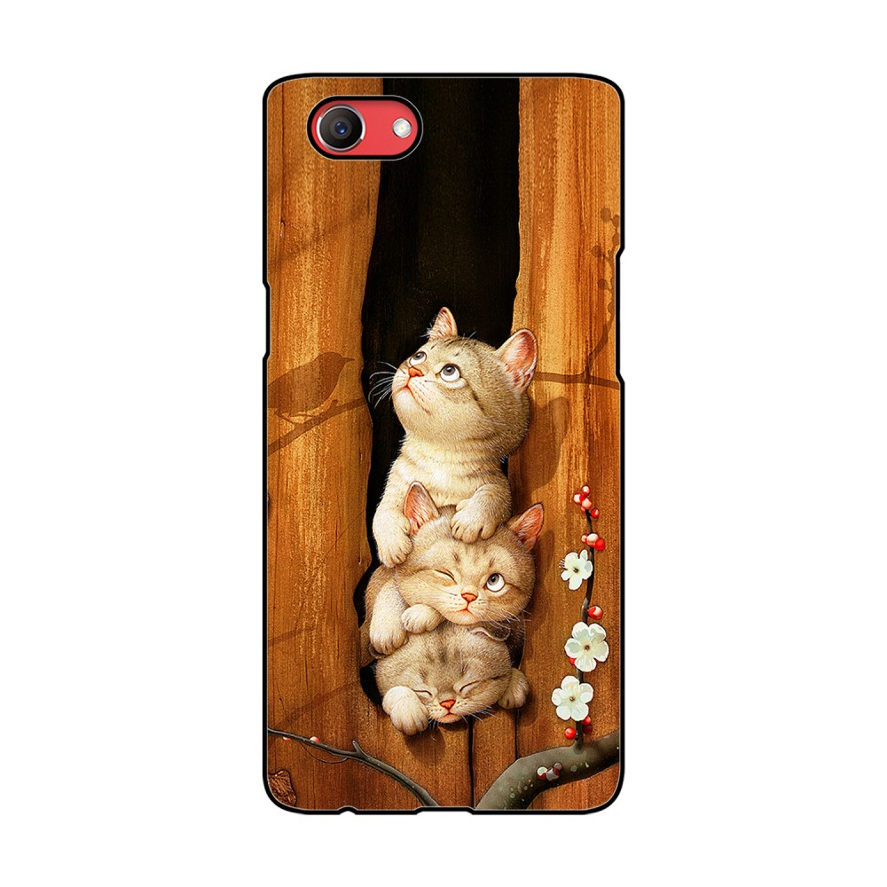 Three Cats Printed Oppo Mobile Case