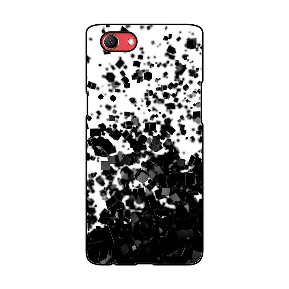 Black Cubes Printed Oppo Mobile Case