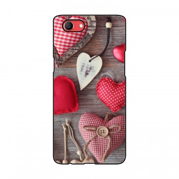 Hearts Printed Oppo Mobile Case