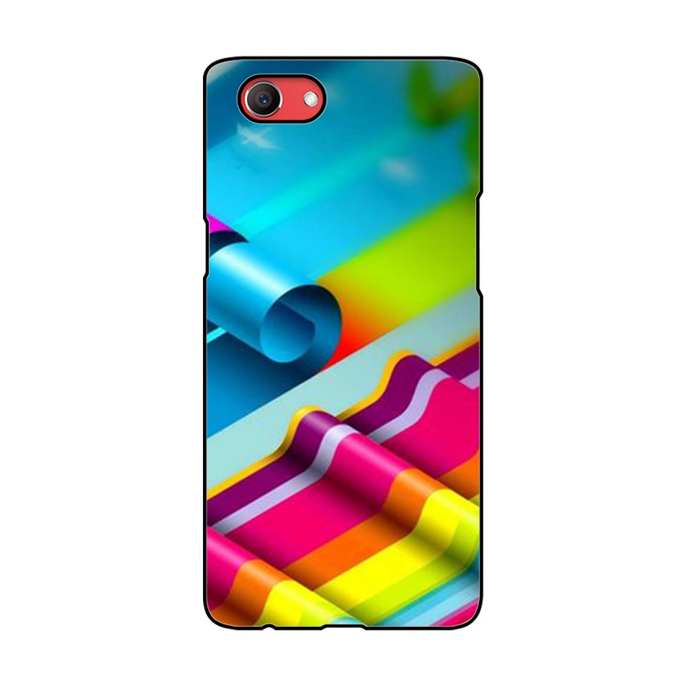 Colorful Curls Printed Oppo Mobile Case