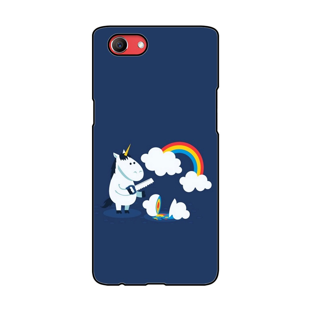 Unicorn with Rainbow Printed Oppo Mobile Case