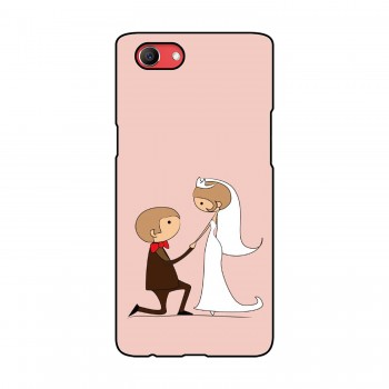 Cartoon Couple Printed Oppo Mobile Case