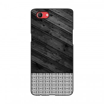 Black Wooden Pattern Printed Oppo Mobile Case