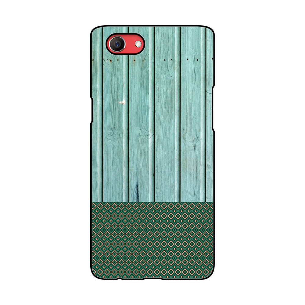 Green Wooden Pattern Printed Oppo Mobile Case