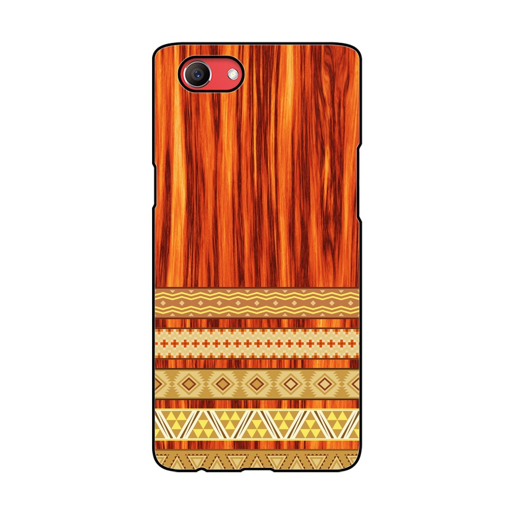 Orange Wooden Pattern Printed Oppo Mobile Case