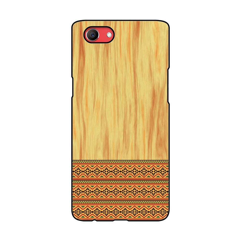 Brown Wooden Pattern Printed Oppo Mobile Case
