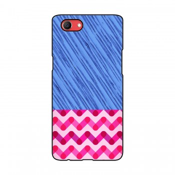 Blue and Pink Pattern Printed Oppo Mobile Case