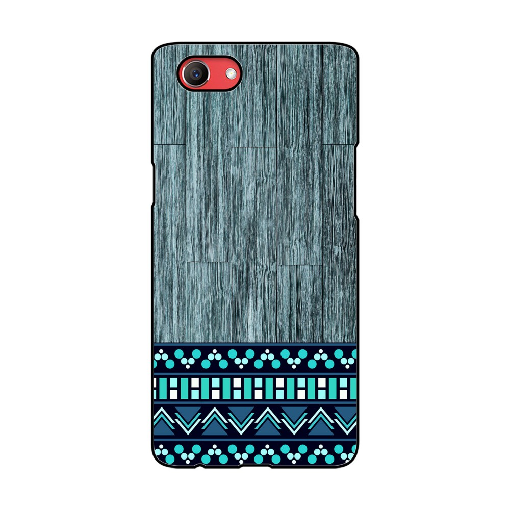 Blue Wooden Pattern Printed Oppo Mobile Case