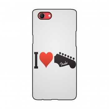 I Love Printed Oppo Mobile Case