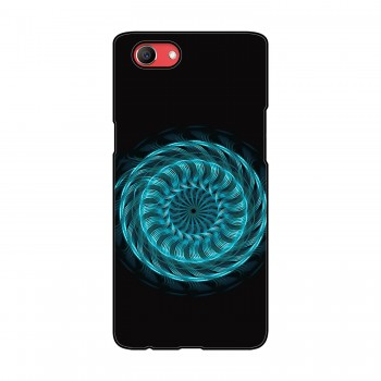 Blue Colored Flow Pattern Printed Oppo Mobile Case