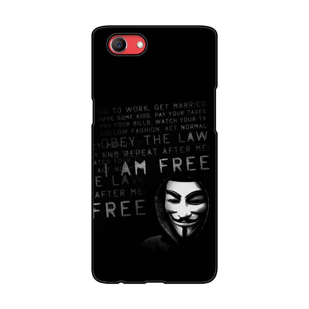 I am Free Text Printed Oppo Mobile Case