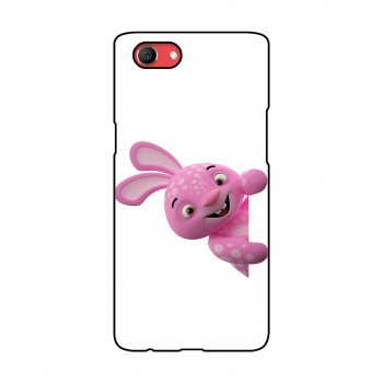 Pink Rabbit Printed Oppo Mobile Case