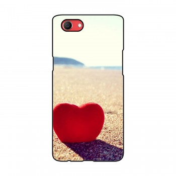 Red Heart Printed Oppo Mobile Case